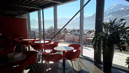 Uni Liechtenstein Ausblick Cafe